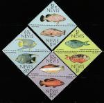 Невис 1987 год. Рыбы коралловых островов. 8 марок