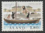 Аланды 1988 год. 350 лет почтовой службе. 1 марка