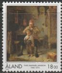 Аланды 1996 год. 150 лет со дня рождения живописца Карла Эмануэля Янссона, его картина. 1 марка