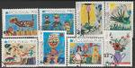 Польша 1971 год. Детские рисунки. 25 лет ЮНИСЕФ. 8 гашёных марок