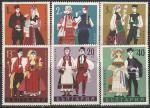 Болгария 1968 год. Национальные костюмы. 6 гашёных марок