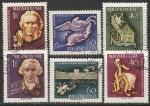 Венгрия 1959 год. 150 лет со дня смерти композитора Гайдна. 200 лет со дня рождения писателя Шиллера. 6 гашёных марок