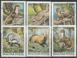 Венгрия 1979 год. Пушные звери. 6 гашёных марок