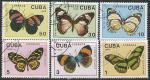 Куба 1989 год. Бабочки. 6 гашёных марок