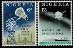 Нигерия 1963 год. Исследование космоса. Новостные спутники. 2 марки (ю)