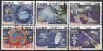 """Куба 1980 год. Программа """"Интеркосмос"""", 6 гашёных марок (ю)"""