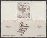 Польша 1977 год. 400 лет со дня рождения художника П.П. Рубенса, блок