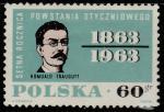 Польша 1963 год. 100 лет январскому восстанию. Лидер восстания, 1 марка