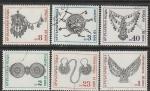 Болгария 1972 год. Народное искусство, ювелирные изделия, 6 гашёных марок