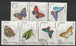 Венгрия 1984 год. Бабочки, 7 гашёных марок