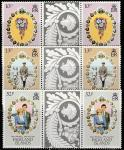 Фолклендские острова 1981 год. Свадьба принца Чарльза и леди Дианы Спенсер, 3 пары марок