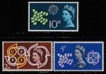 Великобритания 1961 год. Европа СЕРТ, эмблема, символика, 3 марки