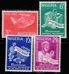 Нигерия 1963 год. 15 лет Декларации Прав Человека. Свобода вероисповедания, 4 марки