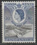 Восточноафриканское Сообщество (Кения. Уганда) 1954 год. Визит Елизаветы II. Завершение строительства ГЭС, 1 марка