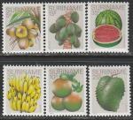 Суринам 1978 год. Фрукты, 6 марок
