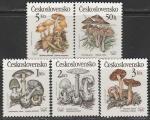 ЧССР 1989 год. Ядовитые грибы, 5 марок