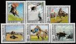 Монголия 1976 год. Картины О. Зеведшоу, 6 марок