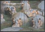 Малави 2009 год. Бегемоты в воде, блок