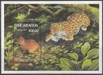 Никарагуа 1993 год. Животные и растения тропического леса, блок