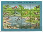 Никарагуа 1994 год. Звери и птицы тропических лесов, малый лист