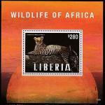 Либерия 2013 год. Леопард, блок