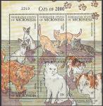 Микронезия 2000 год. Породы кошек, малый лист