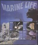 Невис 2011 год. Морская фауна, малый лист