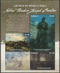 Тувалу 2015 год. Первая Мировая Война. Картина художника Альфреда Теодора Бастиана, малый лист