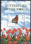 Невис 2011 год. Бабочки и цветы, блок