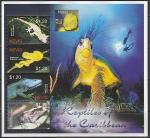 Невис 2004 год. Фауна Карибских островов. Рептилии, малый лист