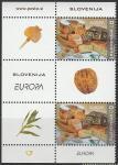 Словения 2005 год. Европа. Гастрономия, 2 марки с купоном в сцепке