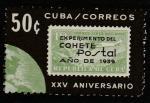Куба 1964 год. 25 лет выпуску первой марки ракетной почты, 1 марка
