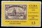 Куба 1972 год. 10 лет Академии Наук, 1 марка