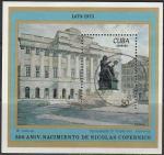 Куба 1973 год. 500 лет со дня рождения Николая Коперника, гашёный блок