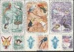 Куба 1967 год. Рождество. Птицы, 15 гашёных марок с купоном
