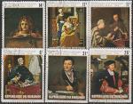 Бурунди 1974 год. Международная почтовая неделя. Картины, 6 гашёных марок