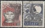 ЧССР 1962 год. 20 лет уничтожению города Лидица, 2 гашёные марки