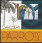 Сент-Китс 2012 год. Попугаи Карибского бассейна, блок