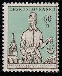 ЧССР 1964 год. Шахтёр с лампой в исторической одежде, 1 марка