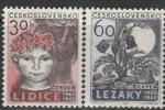 ЧССР 1962 год. 20 лет разрушению города Лидица, 2 марки