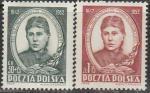 Польша 1952 год. 110 лет со дня рождения поэтессы Марии Конопницкой, 2 марки
