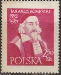 Польша 1957 год. Арнос Каменский, учёный, 1 марка