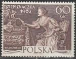 """Польша 1963 год. Картина """"Любовное письмо"""", 1 марка"""