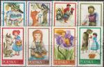 Польша 1968 год. Сказки, 8 гашёных марок