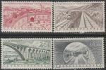 ЧССР 1955 год. Достижения социализма, 4 марки (с наклейкой)