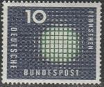 ФРГ 1957 год. Телевидение. Символическое представление, 1 марка