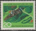 ФРГ 1969 год. Карта, 1 марка