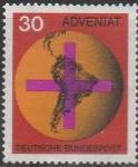 ФРГ 1967 год. Католическая акция для церквей в Латинской Америке, 1 марка