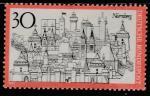 ФРГ 1971 год. Туризм. Нюрнберг, центр города. 1 марка