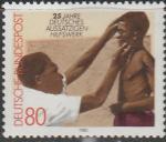 ФРГ 1982 год. Врач осматривает больного проказой, 1 марка